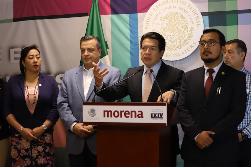 Morena replantea  la estructura de  gobierno; inicia por las compras. Foto: Víctor Gahbler / El Heraldo de México