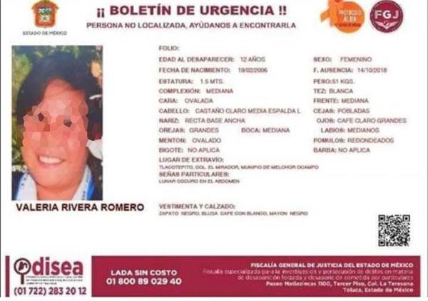 La Fiscalía del Estado de México aseguró que ya se iniciaron las investigaciones correspondientes al homicidio de Valeria.