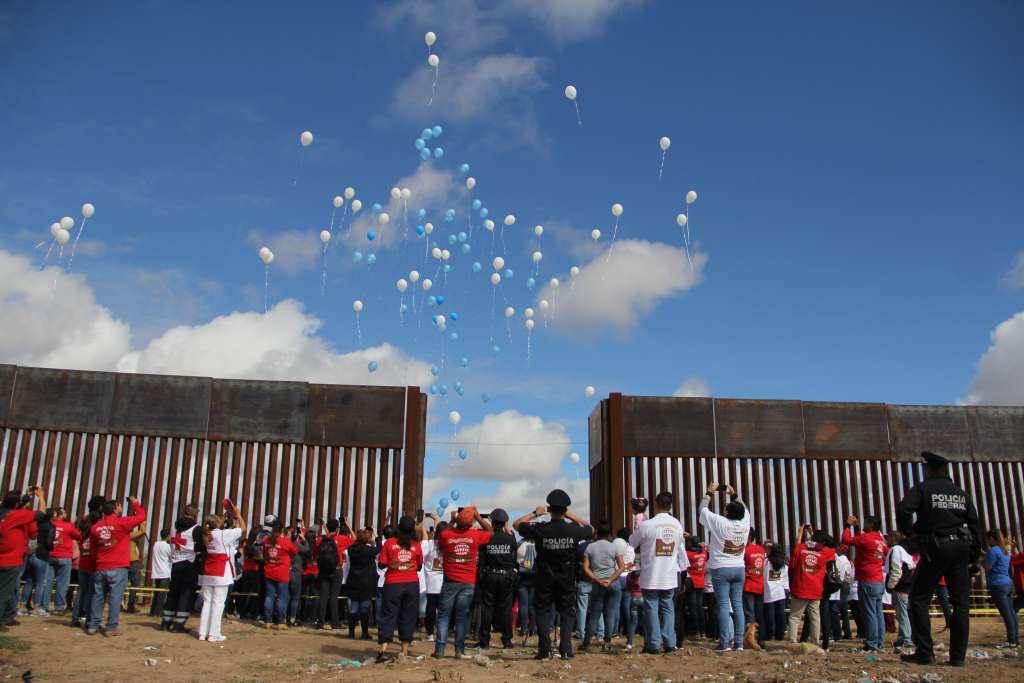 FIESTA. En la reunión fronteriza participaron 250 familias de migrantes. Foto: HÉRIKA MARTÍNEZ PRADO