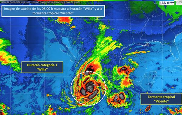 La Conagua informó que se mantiene coordinación para establecer las zonas de vigilancia por vientos de tormenta y huracán. IMAGEN: CONAGUA