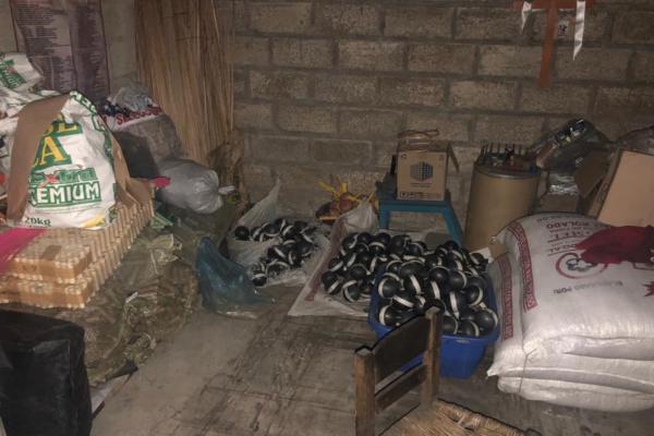 El material asegurado y los domicilios quedaron a disposición del Ministerio Público de Toluca. Foto: José Ríos