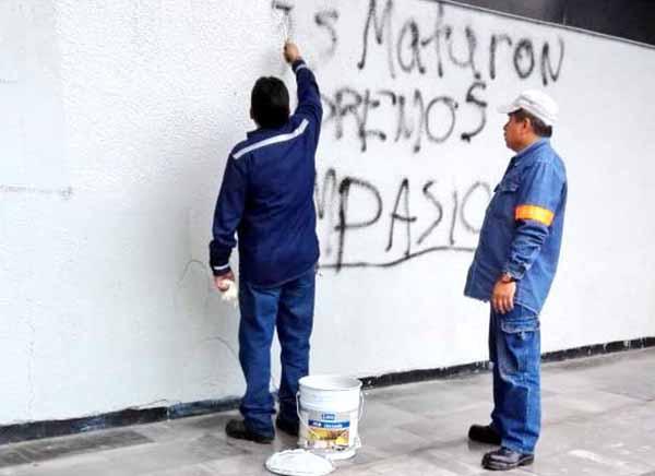 Así quedó la estación Tlatelolco del Metro, tras paso de manifestantes