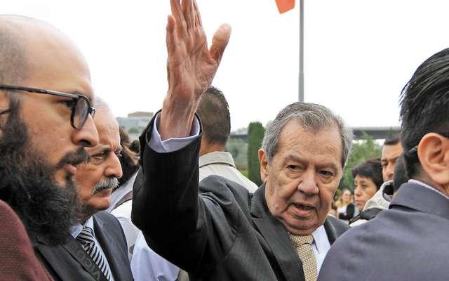 Porfirio Muñoz Ledo presentó la iniciativa en San Lázaro; de ser avalada, pasaría al Senado. Foto: Cuartoscuro.com