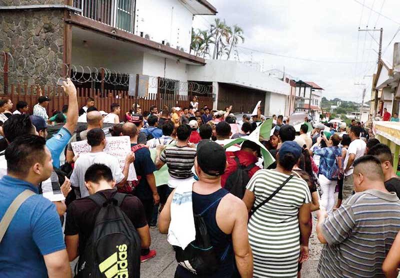 Blindan con federales la frontera sur. Foto: Benjamín Alfaro.