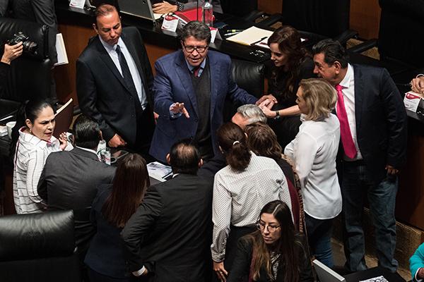 El Pleno del Senado discute el proceso de la consulta. FOTO: CUARTOSCURO