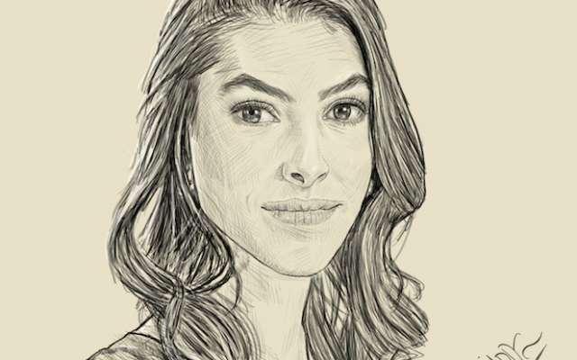 Los días y los años, Sylvana Beltrones al rescate de la marca. Dibujo de Manjarrez