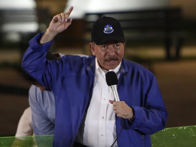 Ayer convocaron a una marcha en repudio al presidente de Nicaragua FOTO: AFP