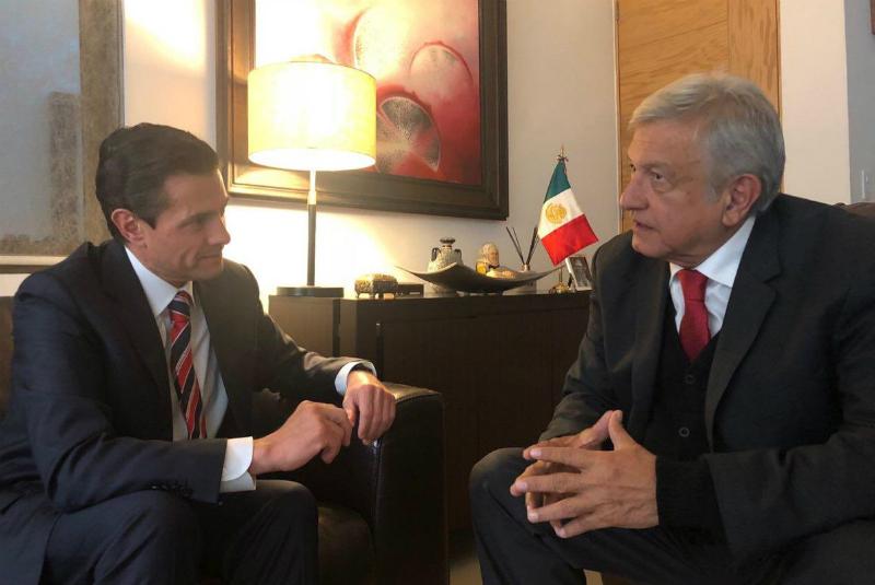 López Obrador recibe en su casa a Peña Nieto, comieron juntos. Foto: @lopezobrador_