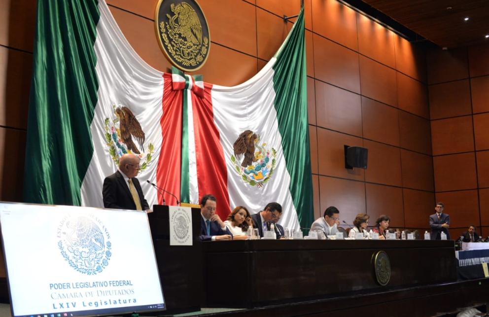El auditor superior de la Federación, ayer, presentó los resultados ante diputados federales. Foto: @ASF_Mexico