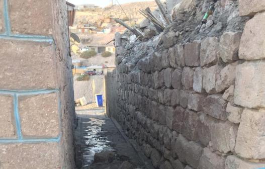 Reportan derrumbes en las cercanías de Camiña. FOTO: @SismoMundial