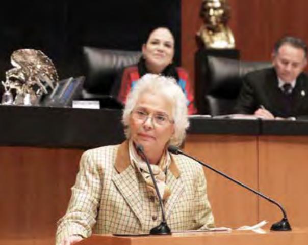 La propuesta de Sánchez Cordero se presentará en la sesión del próximo martes en el Senado.