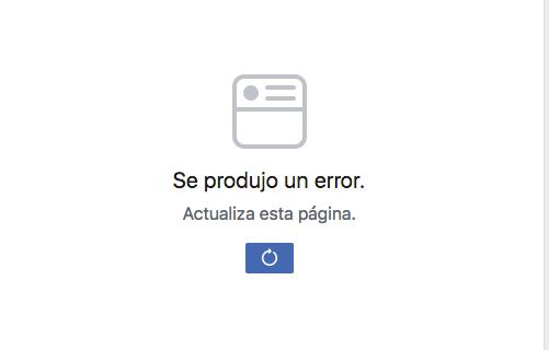 Usuarios reportan fallas en Facebook