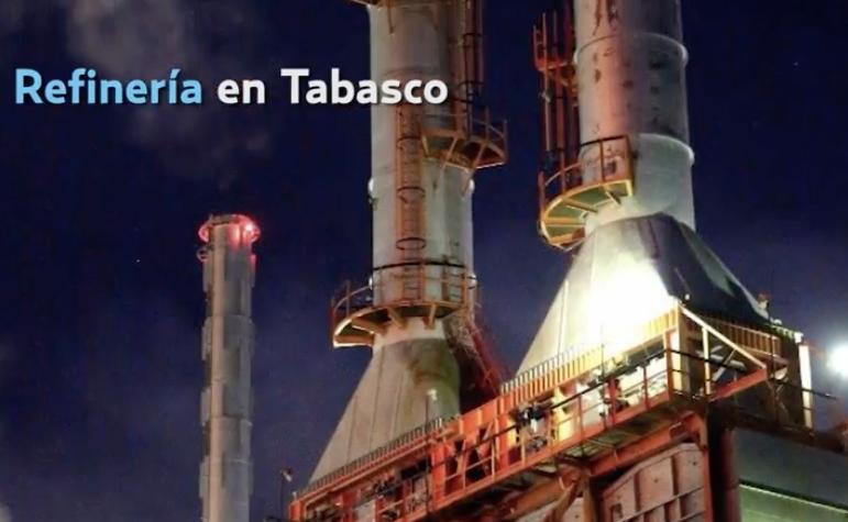 La refinería en Tabasco es uno de los proyectos. FOTO: TOMADA DE VIDEO
