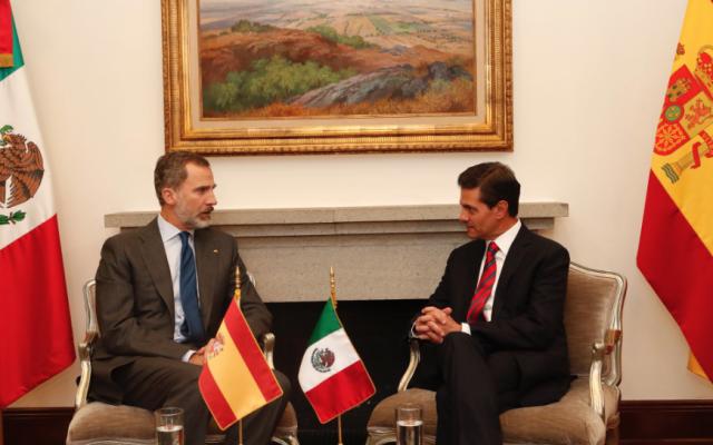La reunión es por consideración de las relaciones excelentes de México con España. FOTO: @CasaReal