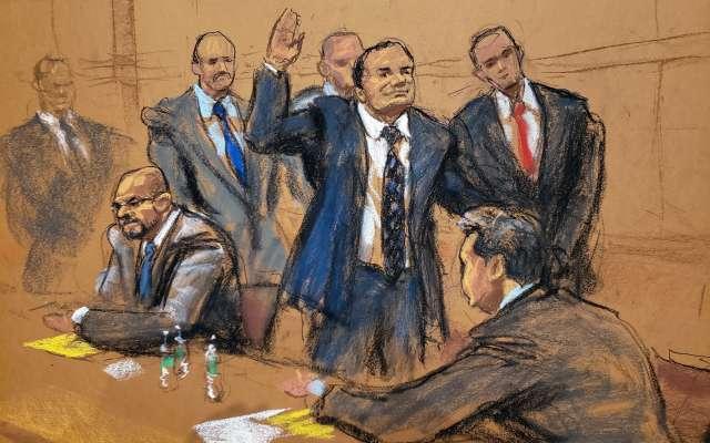 Juicio en la Corte de Nueva York contra el líder del Cártel de Sinaloa FOTO: EFE