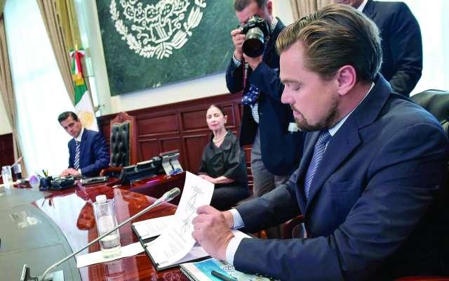 En 2017, el actor y el presidente Enrique Peña Nieto firmaron un Memorando de Entendimiento. FOTO: ESPECIAL