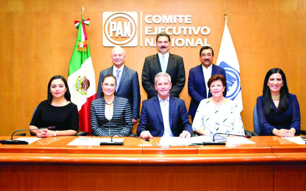 La Comisión Organizadora Nacional de la Elección del CEN (Conecen), integrada por personas cercanas al excandidato presidencial Ricardo Anaya. Foto: Especial
