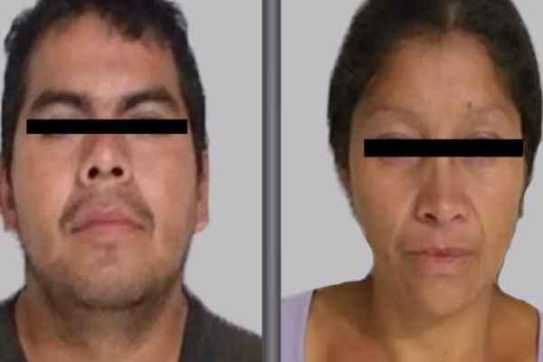 """Juan Carlos """"N"""" y Patricia """"N"""" son presuntos responsables de entre 10 y 20 feminicidios. Foto: Fiscalía de Edomex"""