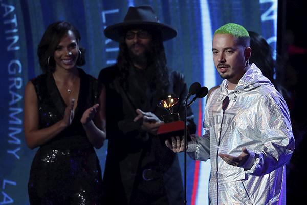 Balvin, que estaba nominado en ocho categorías, sólo se llevó la de Mejor Álbum de Música Urbana. FOTO: REUTERS