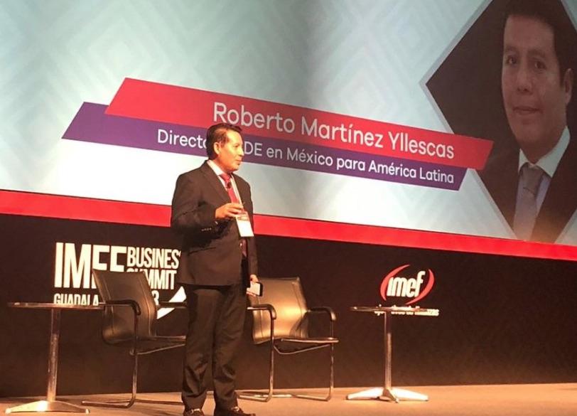 Roberto Martínez, director de la OCDE, en AL. Foto: @IMEFOficial