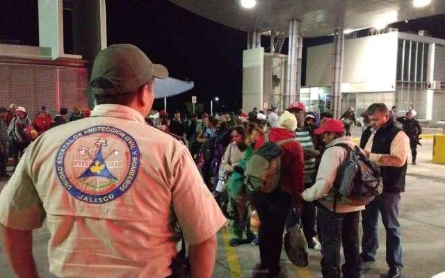 Hasta esta noche más de 700 migrantes habían llegado a Guadalajara desde este fin de semana