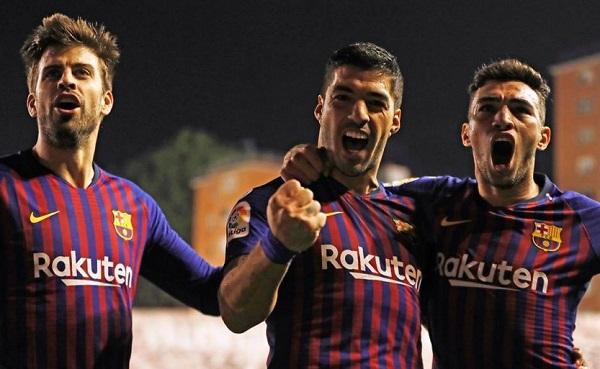 Luis Suárez fue el principal protagonista en el duelo que enfrentó al Barcelona contra el Rayo Vallecano en el estadio de Vallecas. Foto: Twitter