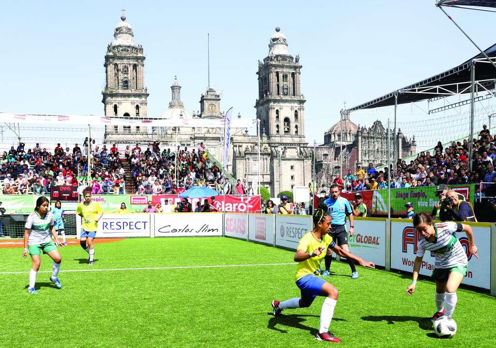 MANDONAS. Las tricolores se impusieron a Brasil en Semifinales. Foto: VÍCTOR GAHBLER