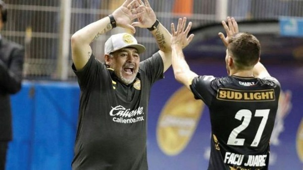 La aventura de Maradona seguirá por la ciudad de Culiacán, al frente de unos Dorados que buscan ser campeones. Foto: Especial