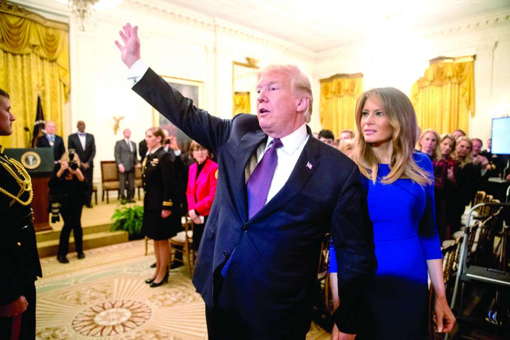 Donald y Melania Trump entregaron la Medalla de la Libertad