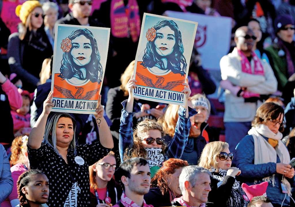 Durante todo el año, grupos de activistas han estado apoyando a los soñadores. REUTERS/Steve Marcus/File Photo