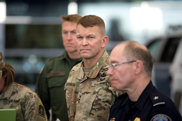 Las tropas recién llegadas forman parte de la Operación Línea Segura, tras la orden del presidente Trump de enviar soldados a la frontera con México. Foto: EFE