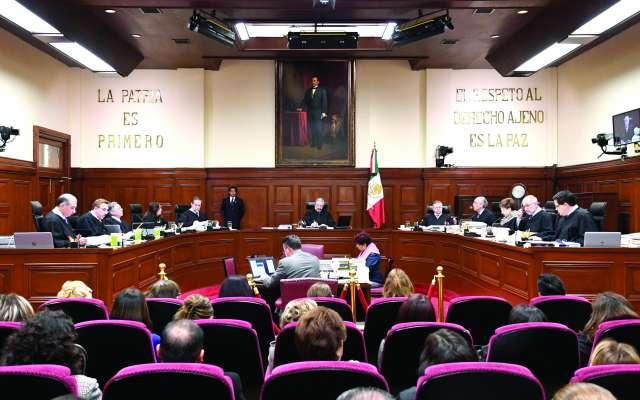 DECISIÓN. Los Ministros que integran el pleno de la Suprema Corte de Justcia son parte de los afectados por la Ley recién decretada. Foto: Cuartoscuro
