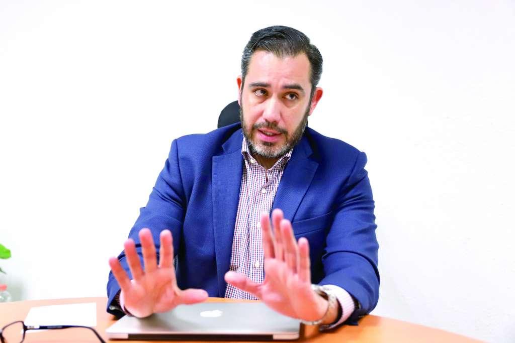OBJETIVO. Jesús Orta Martínez habla de cómo prevé reducir el crimen en la CDMX desde el 5 de diciembre. Foto: VÍCTOR GAHBLER