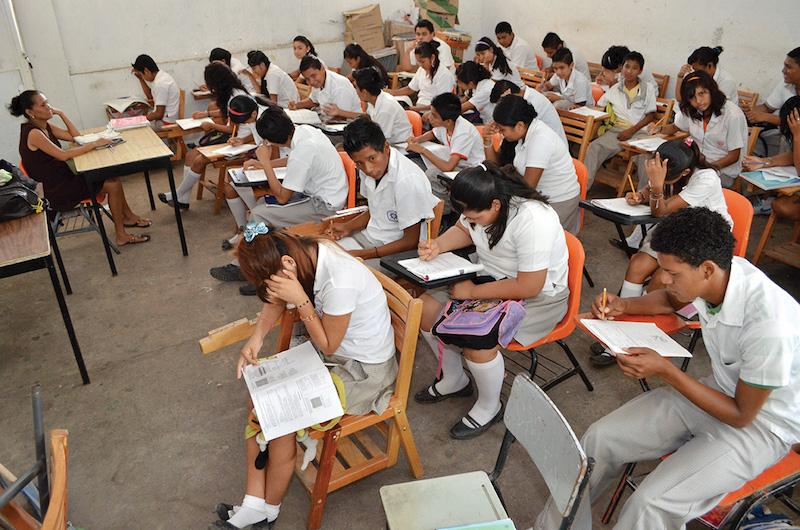 Alumnos son evaluados mediante la prueba PISA. FOTO: BERNANDINO HERNÁNDEZ /CUARTOSCURO.COM