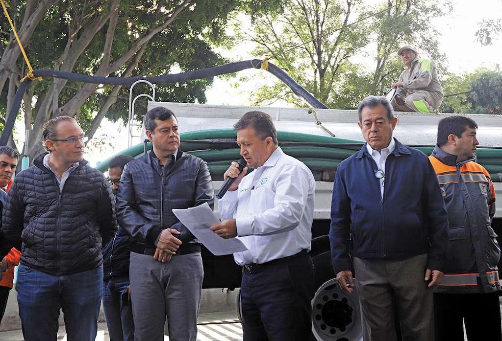 Dotan 74.8 millones de litros de agua para la CDMX. Foto: Víctor Gahbler / Heraldo de México.