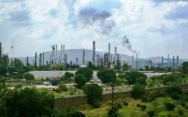 Aspectos de la refinería Miguel Hidalgo, ubicada en la región de Tula.   FOTO: FRANCISCO VILLEDA /CUARTOSCURO.COM