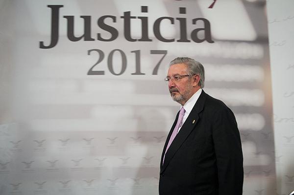 El ministro Luis María Aguilar Morales, presidente de la Suprema Corte de Justicia de la Nación (SCJN).  FOTO: CUARTOSCURO