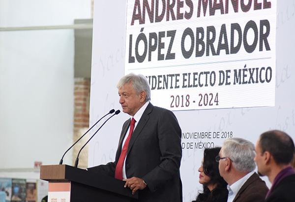 Andrés Manuel López Obrador, presidente electo de México.  FOTO: NOTIMEX