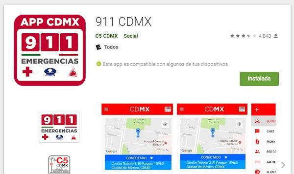 La App 911 de la Ciudad de México ayuda a los ciudadanos a reportar una emergencia.  FOTO: ESPECIAL