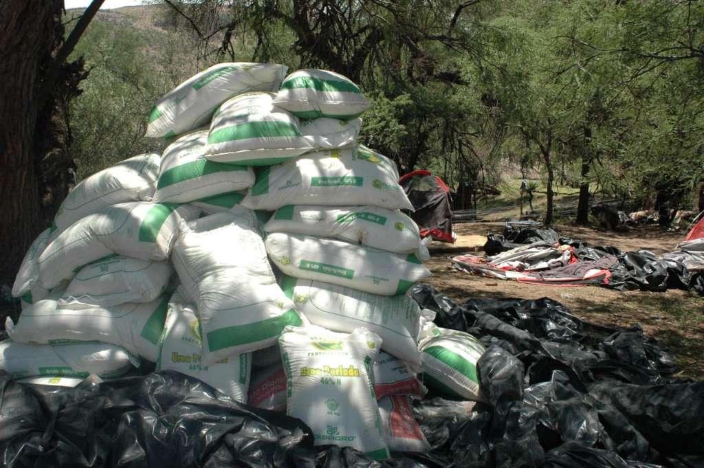 La Sedena informó que fueron destruidos en el lugar del hallazgo por el método de incineración