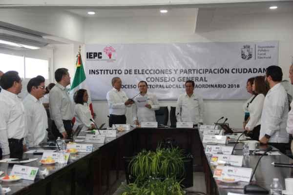 Este lunes se realizarán las sesiones de cómputo en cada uno de los Consejos Municipales. Foto:@IEPCChiapas