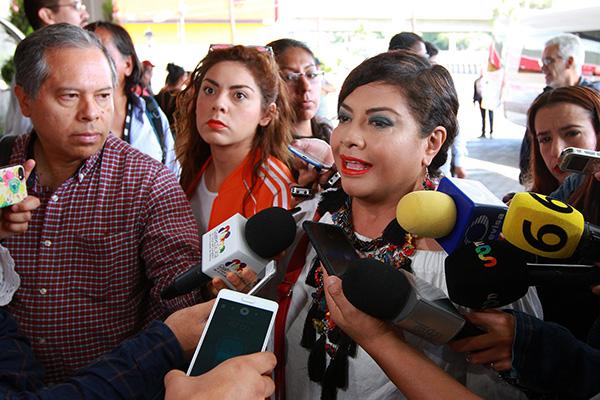 Clara Brugada, alcaldesa de Iztapalapa.  FOTO: NOTIMEX