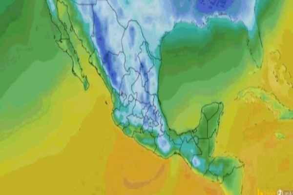 También se pronostica evento de Norte en el Istmo, Golfo de Tehuantepec y la Península de Yucatán