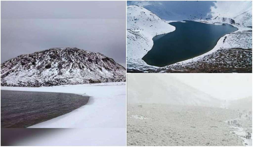 En el Nevado de Toluca, los visitantes pueden disfrutar de las lagunas del Sol y la Luna