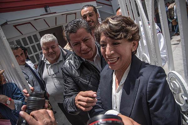 Delfina Gómez participó el año pasado como candidata de Morena al gobierno del Estado de México. FOTO: NOTIMEX