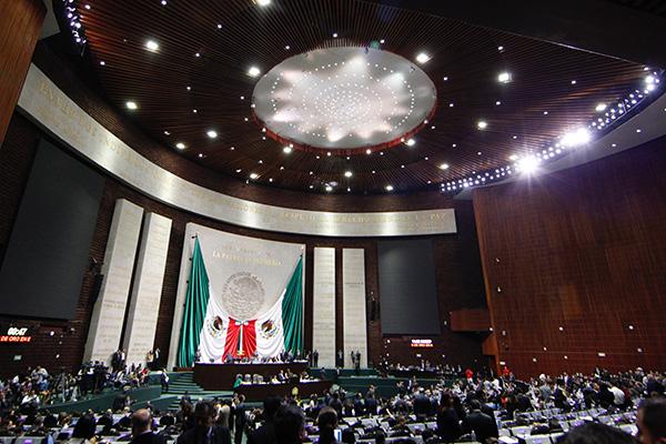Sesión ordinaria de la Cámara de Diputados en San Lázaro.  FOTO: NOTIMEX