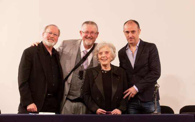 DE HONOR. Poniatowska asistió como invitada. Foto: YAZ RIVERA