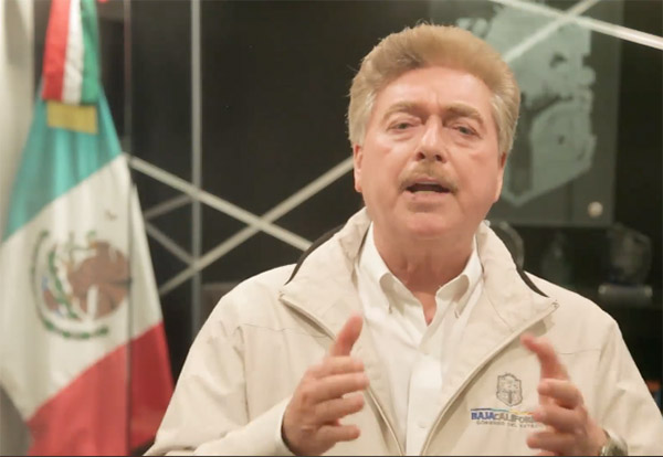 Francisco Vega, gobernador de Baja California. FOTO: ESPECIAL