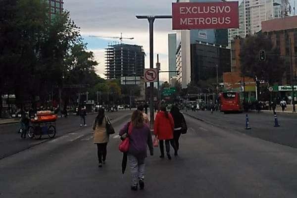 Paseo de la Reforma, Juárez y Eje Central son algunas de las avenidas afectada.  FOTO: @IngCastGon