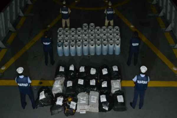Los tripulantes del barco con la droga se dieron a la fuga. Foto: Cortesía